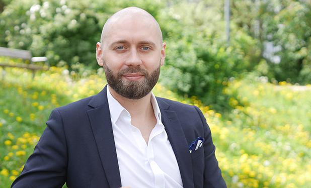 Matho Randall Svahn, ombudsman på Finansförbundet.